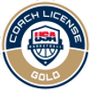 Gold Coaches License through USA basketball