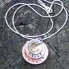 3 layer custom hand stamped jewelry mom necklace from S&K hand stamped designs