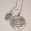 I love you a bushel and a peck and a hug around the neck , hand stamped necklace , jewlery