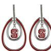 NC State earring from  Beads and More