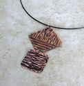 Textured and patina'd copper necklace
