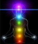 Chakra Balancing 7 spinning energy vortexes of multicolored ligh