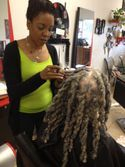 Dreadlocks repairs done with adding extensions to some Locs to enhance hair as well as any color hair can be used.