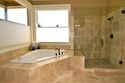 Luxurious bathroom remodel.