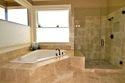 Luxurious bathroom remodel.