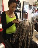 DREADS ON CAUCASIONS  HAIR CLIENT WITH STRAIGHT HAIR WITH BEE'S INSTANT LOCKS DREAD EXTENSIONS METHODS