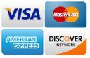 we accept Visa MC, Amex, and Discover