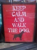 Keep Calk and Walk the Dog