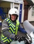 Steve Campbell, motorbike courier for London and elsewhere