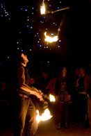 CIRCUS FIRE JUGGLER PERFORMER