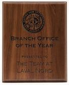 Laser Engraved Walnut Plaque