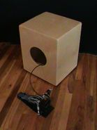 Hybrid Cajon with 3 heads, Strings, and Pedal Controlled Snares