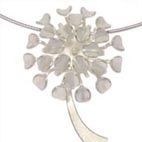 Jewellery. Handmade silver necklace