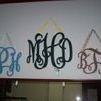 custom wood monogram door hangs