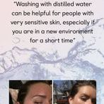 Distilled Water used to wash skin