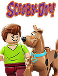 lego scooby doo, shaggy, daphne, valma, monsters, mystery, museum, plabe, mummy,