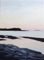 Maine Sunrise on the Coast Original Art Oil Painting