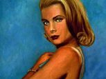 Painting of Grace Kelly