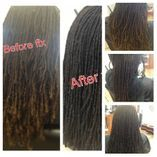 Braids by Bee cleans up Natural Dreadlocks