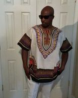 White Dashiki Shirt