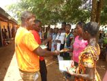 Donating books and pens to pupils of rural public schools of Afife traditional area