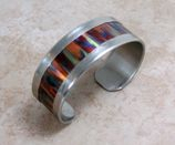 Flame-painted copper in Nickel Silver Cuff