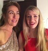 Melinda with comedian and singer songwriter Rachel Parris