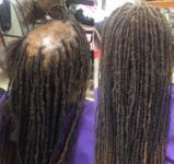 Instantly repair balding areas with dreads.