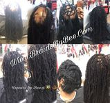 bald areas are covered with Braids by Bee custom bridges of instantLoc Dreads.