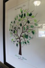 thumbprint tree guest book from our wedding