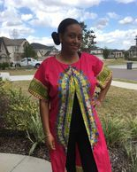 Red long Dashiki shirt