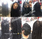 Braids by Bee is known worldwide for the makeover and repairs she does on clients that has real natural dreadlocks that have thinned out and fell out.