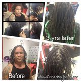 Instantloc Dread Extensions technique started and continues to keep up since 3 years ago.