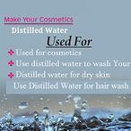 Distilled Water use in cosmetics