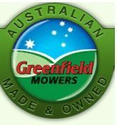 Greenfield Mower Badge