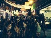Nashville bachleorette party in historic printers alley