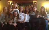 Kylie and friends pose at McFaddens while on Music City Pub Crawl