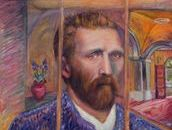 My tribute to  Vincent Van Gogh.  This Van Gogh tribute is my interpretation on what it would have been like to view Vincent though his window at the  St Remy Asylum