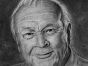 Charcoal drawing of the late Arnold Palmer