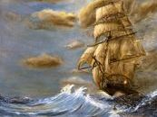Tall-ship Oil Painting