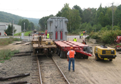 Naugatuck Railroad Freight Transformer Transload