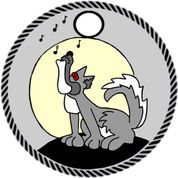 Wolf howling pathtag design
