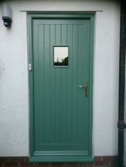 timber back door and frame