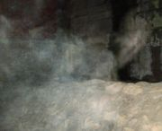 Ghostly mist by one of our ghost walkers