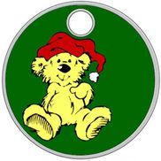Chritmas teddy pathtag design