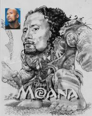 Dwayne Johnson in Disney's Moana