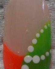 Summer Neon nail art