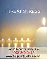 I treat stress with acupuncture