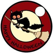 Halloween cat pathtag design
