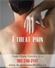 I treat pain with acupuncture